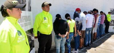 Trece personas fueron capturadas en Socorro y cinco en Bucaramanga por la Policía Nacional, por el delito de tráfico y distribución de alucinógenos.