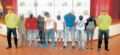 Los 14 capturados deberán responder por concierto para delinquir agravado, tráfico, fabricación o porte de estupefacientes.