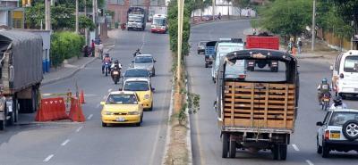Accidente de tránsito generó congestión en la vía entre Bucaramanga y Girón