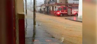Fuertes lluvias generan inundaciones en Zapatoca, Santander