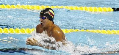 Nadador colombiano 'La Trucha' Murillo a semifinales de los Juegos