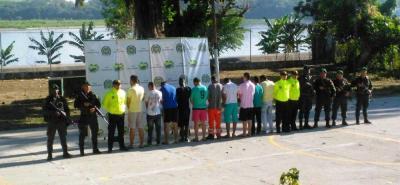De las 10 personas capturadas seis eran menores de edad que comercializaban estupefacientes en el casco urbano de Puerto Boyacá.