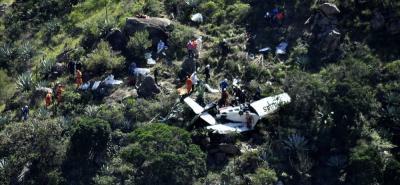 Sobrepeso habría causado accidente de avioneta que viajaba entre Bucaramanga y Málaga