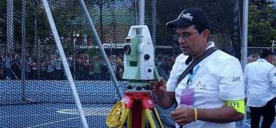 El santandereano Jaime Enrique Santos está en el grupo de oficiales de Federación Internacional de Atletismo (IAAF).