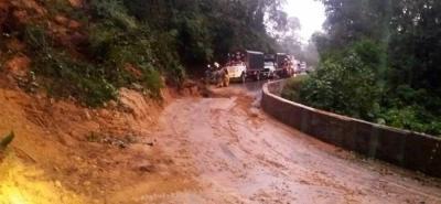 Emergencias por lluvias en vías de Bucaramanga y Santander este martes