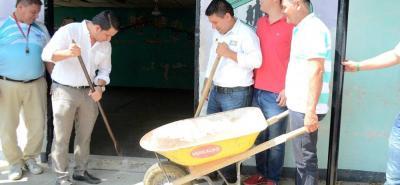 Ayer la Alcaldía de Sabana de Torres socializaba con la comunidad la obra de remodelación en el restaurante escolar El Progreso.
