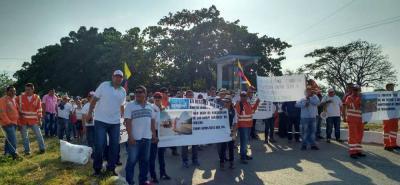 En Aguachica, Cimitarra y Puerto Boyacá se concentraron los trabajadores de Consol para llevar a cabo su protesta pacífica por la liquidación del contrato de la Ruta del Sol 2.