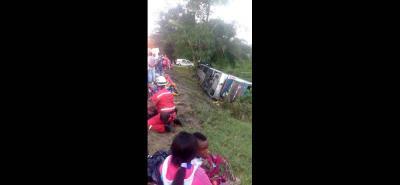 El accidente se registró en la madrugada de ayer. Los heridos fueron trasladados a Barrancabermeja.