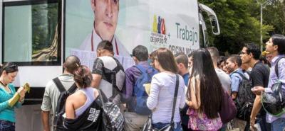 En Colombia, según el Dane, 2,85 millones de personas están sin empleo.