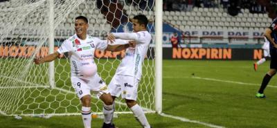El delantero santandereano Sergio Romero marcó el tanto del empate 3-3 de Once Caldas ante Junior.