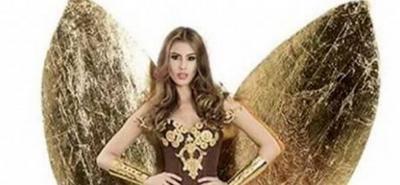 Este sería el traje artesanal de la señorita Santander en el Reinado Nacional de Belleza