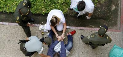 Luis Enrique Duarte Lozano recibió atención médica por parte de profesionales de la Secretaría de Salud de Bucaramanga.
