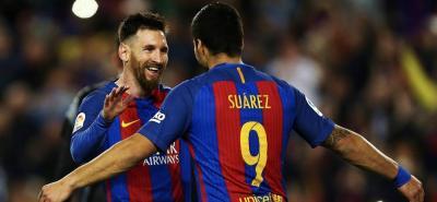 Lionel Messi y Luis Suárez siguen cumpliendo su papel de goleadores en el Barcelona.