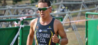 El triatleta santandereano Nicolás Guevara Castillo terminó tercero en el Ironman70.3 que se disputó ayer en San Juan, Puerto Rico.