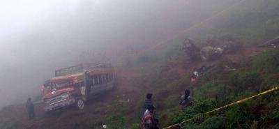 Accidente de un bus escalera dejó cinco muertos en Caldas