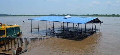 Una vez bajen los niveles de las aguas en el río Magdalena se iniciaría el mantenimiento del muelle flotante en Puerto Berrío.