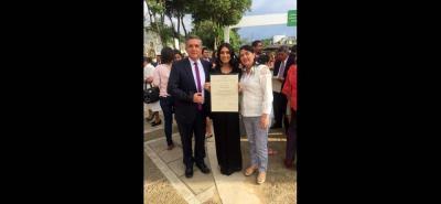 Miguel Flórez, Aura María Flórez y Mabel Reyes.