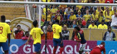 Con goles de James Rodríguez y Juan Guillermo Cuadrado, la selección Colombia logró una nítida victoria de 2-0 sobre su similar de Ecuador en la altura de Quito, triunfo que le permite al combinado nacional enderezar su camino en la Eliminatoria Sura-mericana y ver con reales posibilidades la clasificación a la Copa Mundo de Rusia 2018.