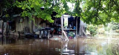 Desbordamiento del río Magdalena causó inundaciones en veredas de Cimitarra, Santander
