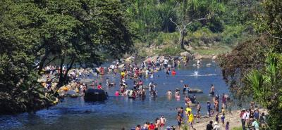 Río Huertas en Vado Real, Santander.