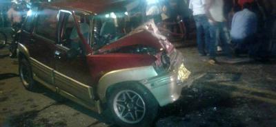 Accidente de tránsito en la vía Bucaramanga-Socorro dejó un herido