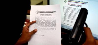 """En el documento que circuló esta semana en Barrancabermeja se advierte por una """"limpieza social"""" sobre consumidores de drogas."""