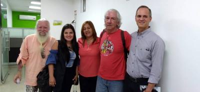 Jorge Mantilla Caballero, Érika Viviana Molina, Yolanda Suescún, Joaquín Bretón y Andrés Navas.