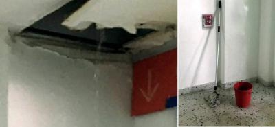 Alertan por goteras en el Aeropuerto Internacional Palonegro