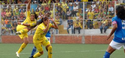 Atlético Bucaramanga derrotó 2-0 a Orsomarso, en el juego de ida de los cuartos de final de la Liga Profesional Femenina de Fútbol.