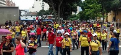 Finalizó marcha de maestros en Bucaramanga