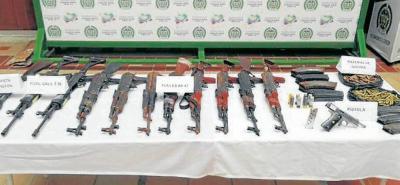 El operativo que permitió la captura de alias 'Pancho' y la incautación de armas de largo alcance fue ejecutado por Ejército y Policía.