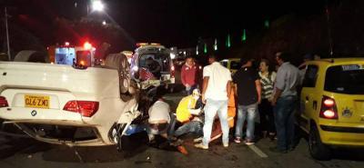 Pese a la magnitud del choque, no hubo víctimas fatales y los heridos están fuera de peligro.