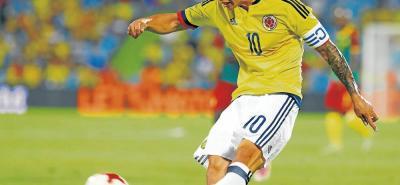 James Rodríguez, junto a Yerri Mina, fueron las figuras en la victoria de Colombia 4-0 sobre su similar de Camerún, en duelo amistoso jugado en España.