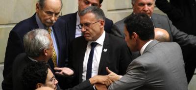 Plenaria del Senado en su último día de sesiones ordinarias, en donde abordó la reforma sobre la creación de las 16 circunscripciones especiales de paz.