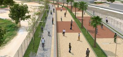 El Parque Lineal San Jorge contempla una cicloruta, pasos peatonales, gimnasios al aire libre y la articulación del puente San Jorge con el Anillo Vial.