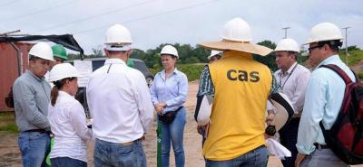 Representantes de la CAS, la Procuraduría y la Alcaldía participaron de la visita al relleno de Rediba, para verificar si se corrigió la violación al área de sustracción.