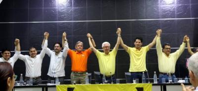 """En el acto de """"Unidad del Polo Democrático"""", el excandidato a la Gobernación, Leonidas Gómez, oficializó su aspiración al Senado de la República por ese partido político."""