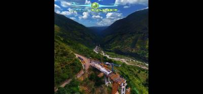 Según sus ejecutores, el puente de Hisgaura será el más alto de Suramérica con 148,3 metros.
