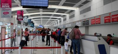 En el Aeropuerto Internacional Palonegro, que sirve a la ciudad de Bucaramanga, se movilizaron en total 823.290 pasajeros en el primer semestre del año.