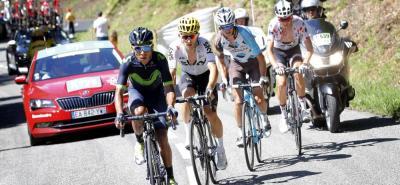 El colombiano Nairo Quintana mostró ayer su clase y talento en la etapa 13 del Tour de Francia, recobrando el protagonismo, el cual le permitió ser segundo en la fracción y descontar 1':48''.