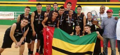 Santander nuevo campeón del Torneo Nacional Sub 20 de Baloncesto