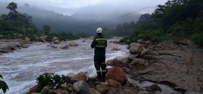 Según las autoridades, más de siete kilómetros había recorrido el grupo de Polsanar desde la represa de Bocas hacia arriba buscando en la ribera del río.