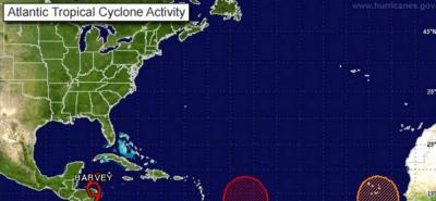 Alerta por formación de tormenta tropical Harvey cerca de las Antillas Menores