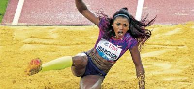 La colombiana Caterine Ibargüen no pudo conquistar su quinto título de la Liga Diamante consecutivo y tuvo que conformarse con la medalla de bronce.