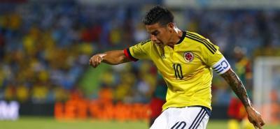 James Rodríguez es el goleador de Colombia en la Eliminatoria, con cinco tantos en 10 juegos.