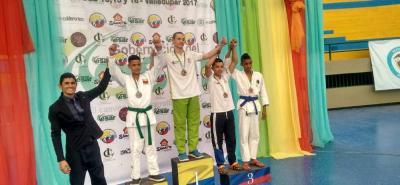 Santander participó con éxito en el Campeonato Nacional de Judo Categorías Sub 13, Sub 15 y Cadetes en Valledupar. Daniel Martínez logró el único oro de la delegación.