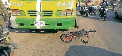 Ciclistas están  indefensos en vías de Bucaramanga: siguen los accidentes