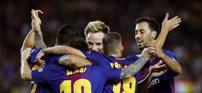 Messi marcó un triplete en la victoria del Barcelona ante el Espanyol