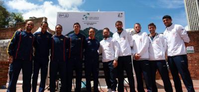 Colombia y Croacia disputarán desde hoy en Bogotá la serie de repechaje para ingresar al Grupo Mundial de la Copa Davis donde solo están los mejores.