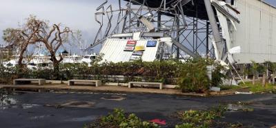 """Vista de los daños causados por el huracán María a su paso por San Juan (Puerto Rico). El presidente de EE.UU., Donald Trump, aprobó la declaración de """"desastre""""."""